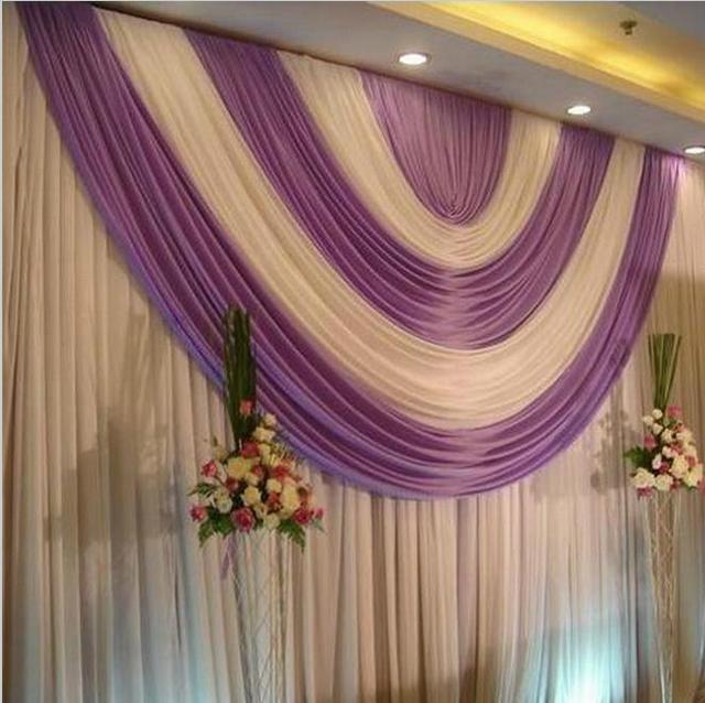 3 6 m romantische wihte wedding achtergrond gordijnen met for Romantische gordijnen