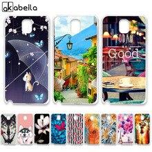 AKABEILA Soft TPU Phone Cases For Samsung Galaxy Note 3 Case N9000 N9005 N9002 Note3 Note III NoteIII Covers Skin Bumper
