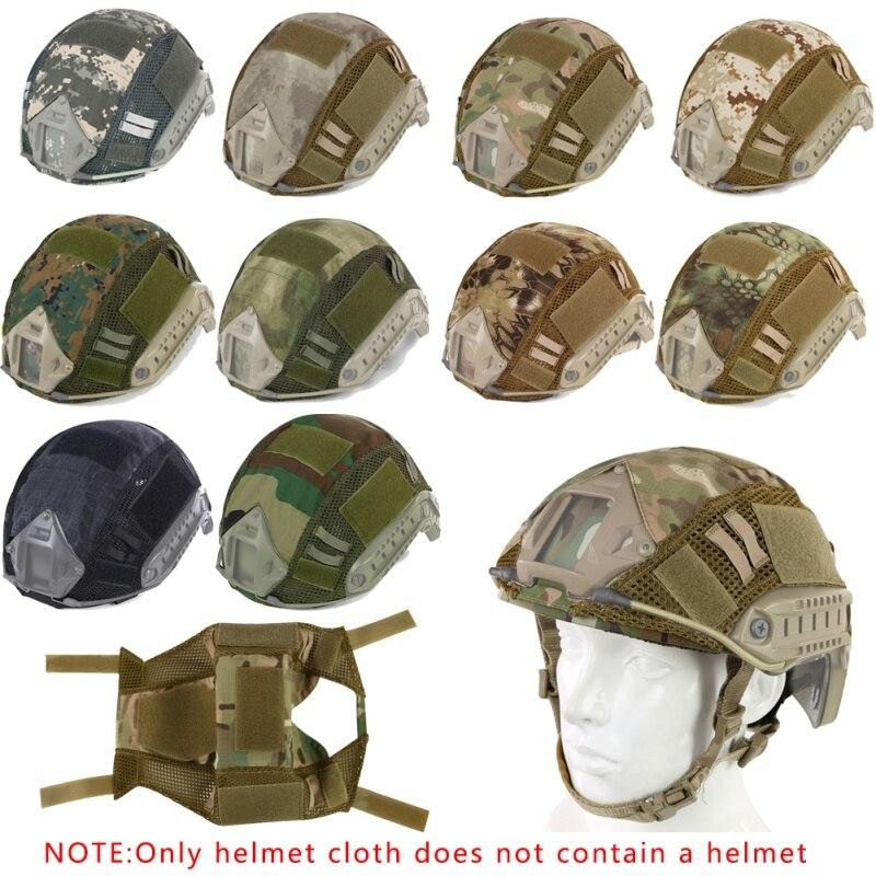 Тактический чехол для шлема страйкбол Пейнтбол Wargame Gear CS Быстрый Шлем Крышка для окружности головы 52-60 см шлем