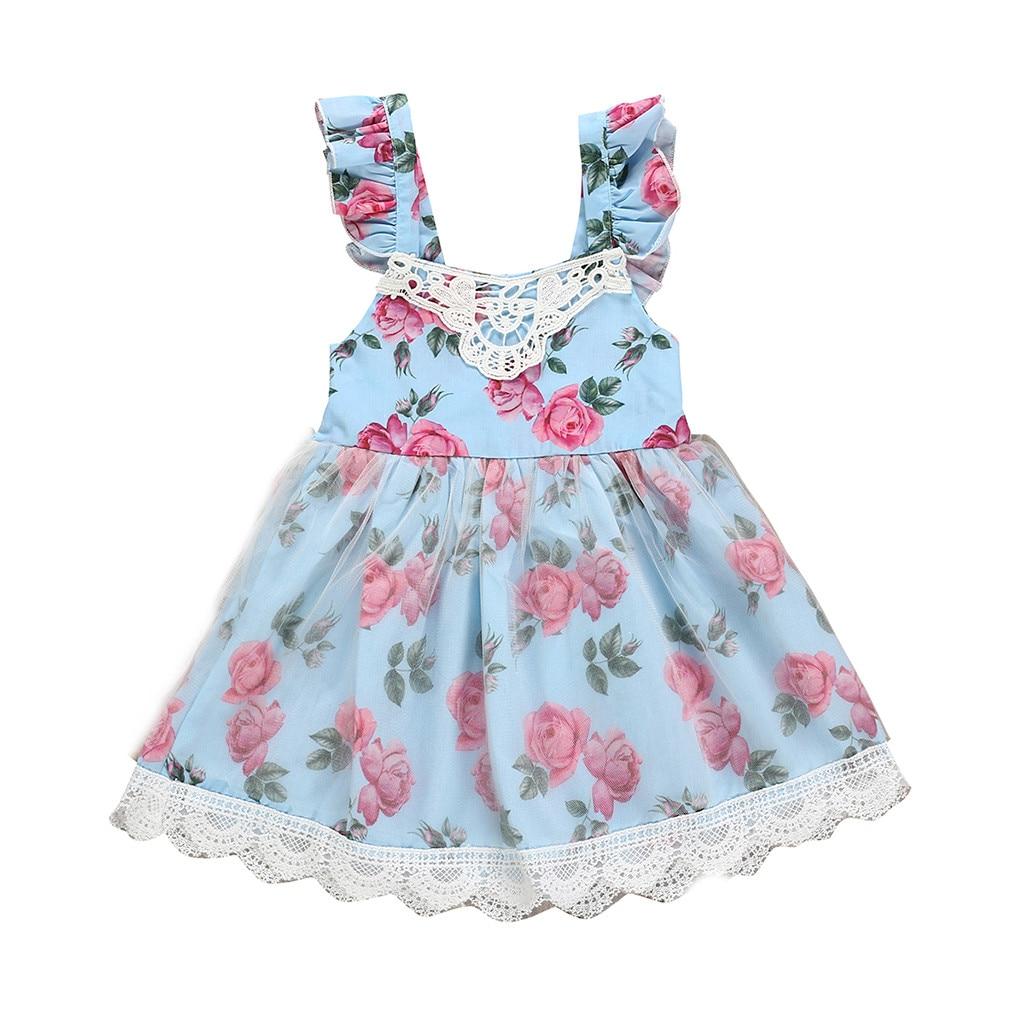 Infant Kids Girls Floral Dress Princess Party Pageant Tutu Dress Summer Outifits