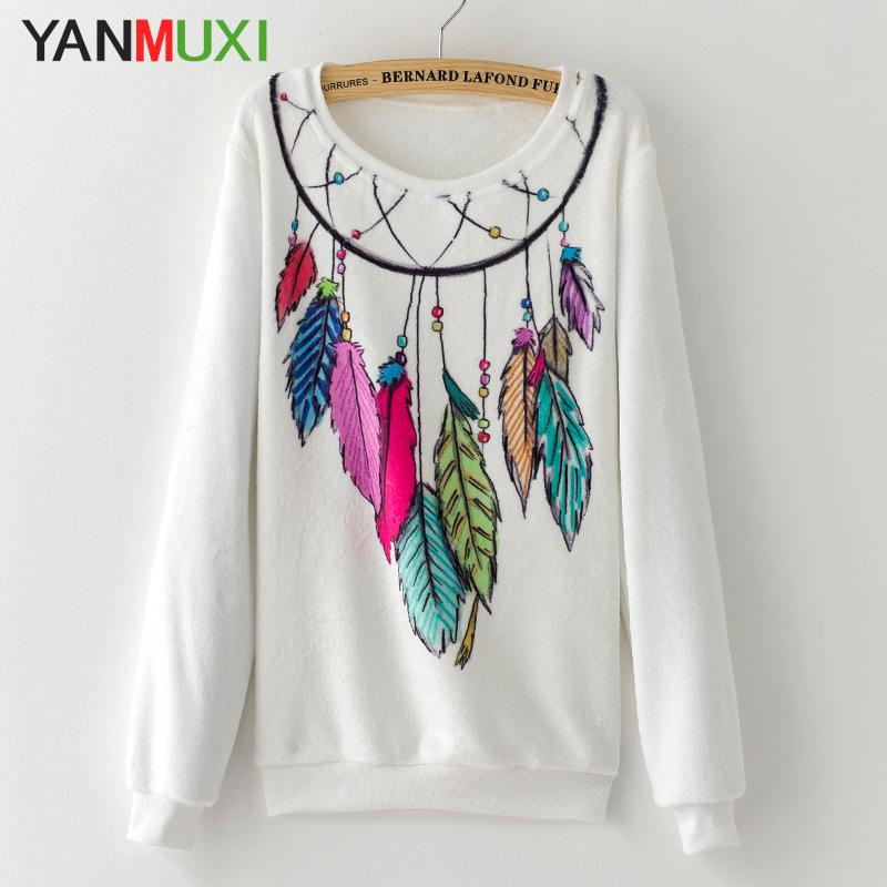 Spring High Quality Fashion Dreamcatcher Women Tops Pullover Flying Elephant Print Turtleneck Knitted Sweater 2017 Pull Femme