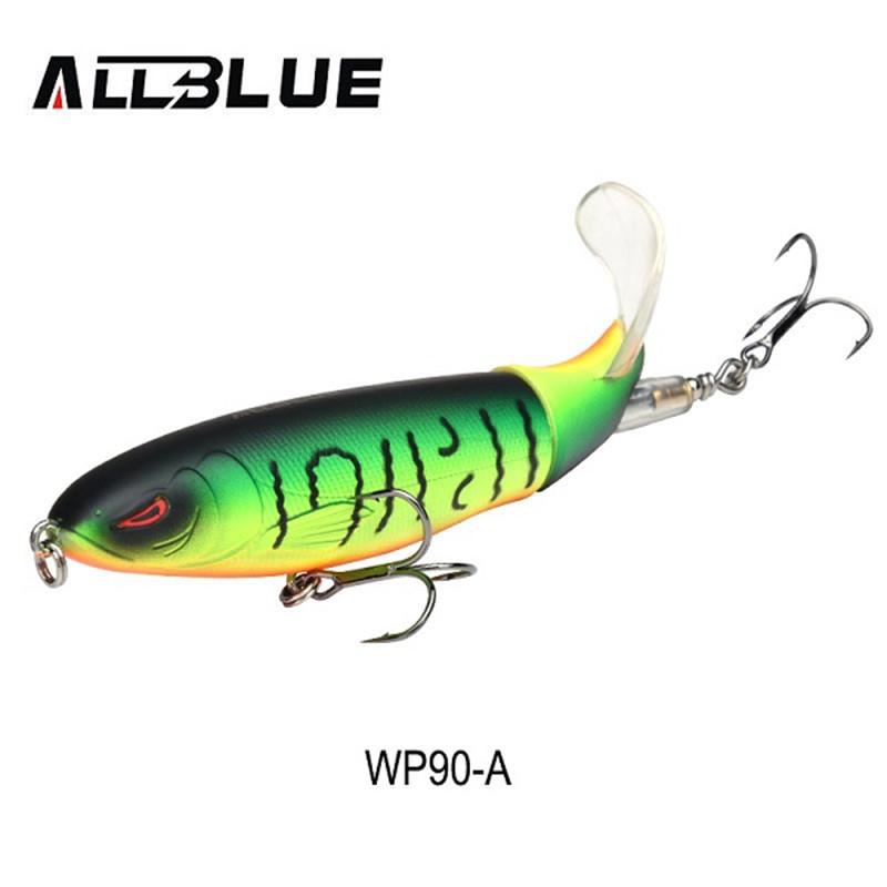 Fishing Lure Artificial Bait Hard Plopper Soft Rotating Tail Fishing Tackle WFI