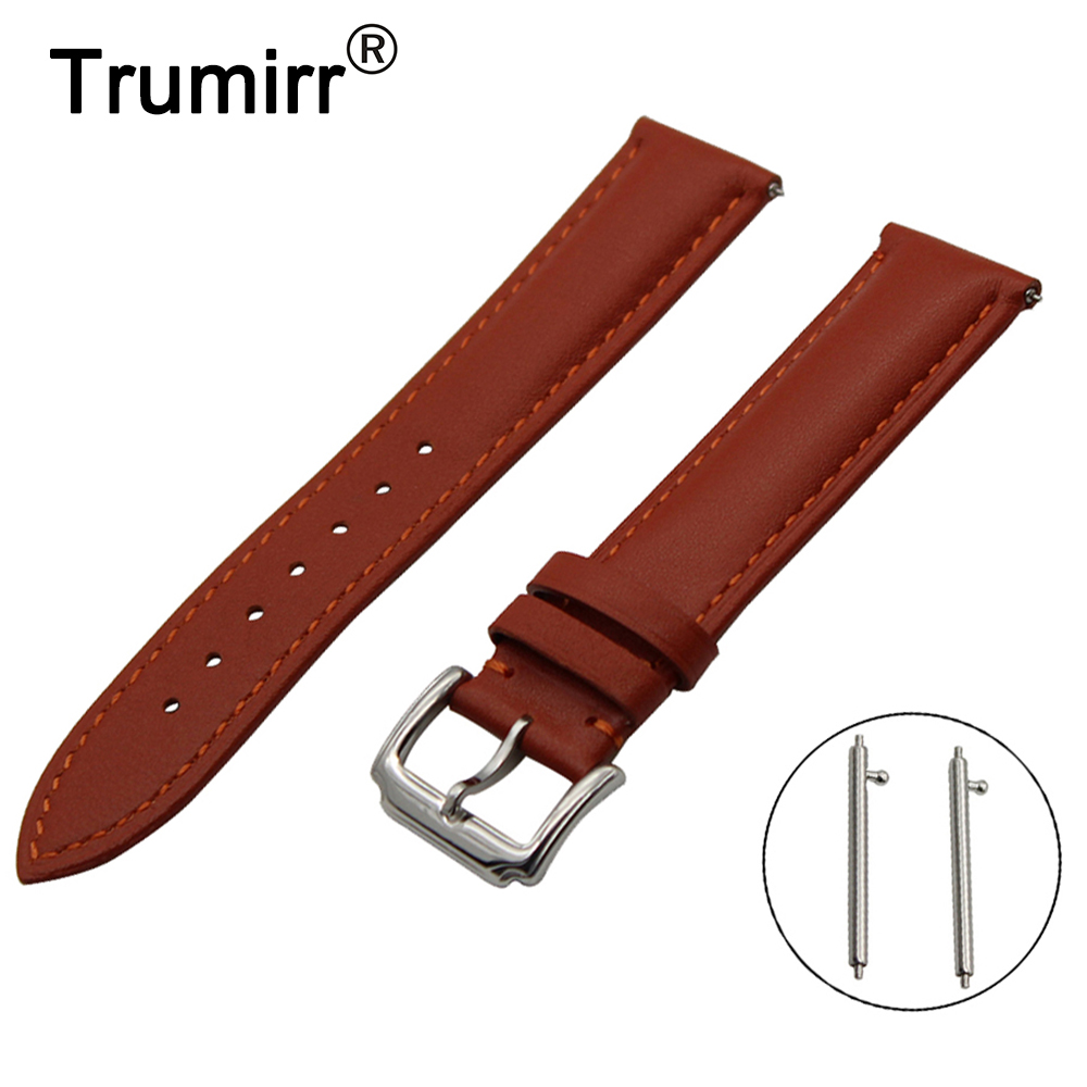 20mm First Layer Genuine Leather Watch Band Quick Release Strap for Ticwatch 2 42mm Wrist Belt Bracelet Black Brown +Spring Bar 20mm 22mm 24mm genuine leather watch band quick release strap for diesel belt wrist bracelet black brown blue red spring bar