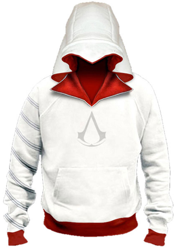 AC Ezio Sweatershirt Jacket Coat Pullover Hoodie Men Adults Halloween Cosplay Costume Adults Men