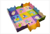 25 pcs un ensemble bébé jigsaw puzzle tapis avec côtés non-toxique mousse tapis de sol tapis tapis ramper eva jeu tapis bébé infantile eva tapis