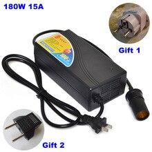 Buendeer High Power 180W 15A Car cigarette lighter Transformer AC 110V 220V to DC 12V Home Use Converter for  Pump refrigerator