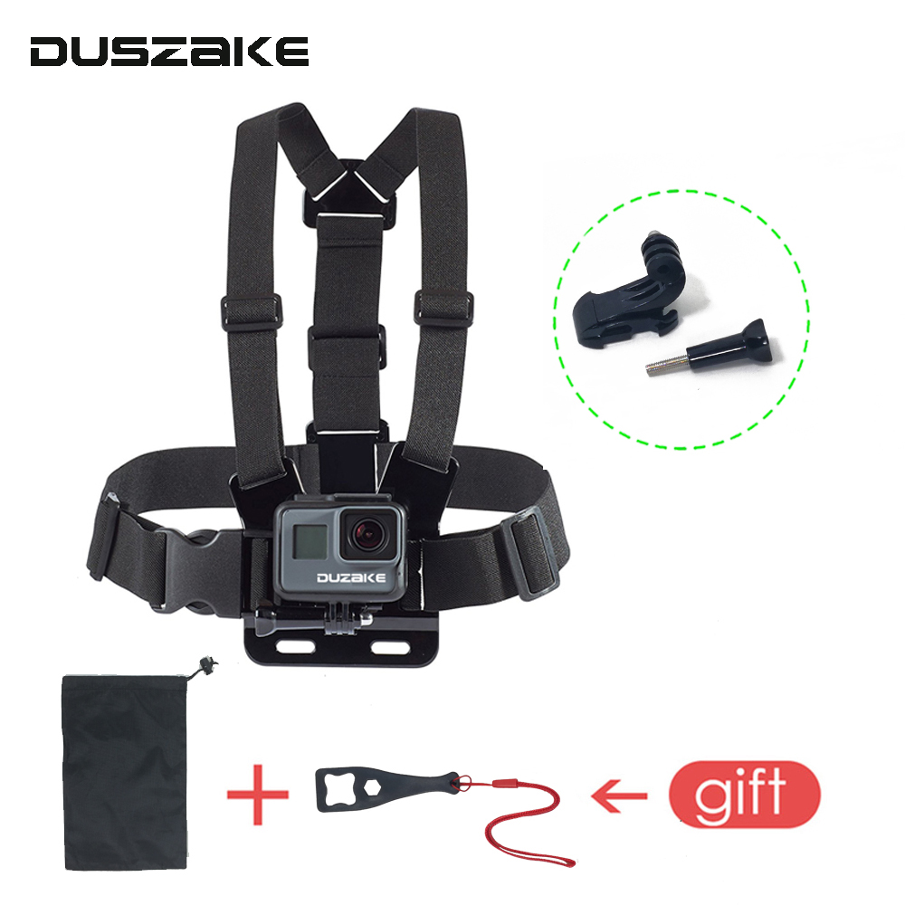 DUSZAKE DG08 Chest Belt For Gopro Hero 5 Accessories Strap For Gopro Mount For Gopro Hero 5 Accessory For Yi 4K Eken H9 SJCAM