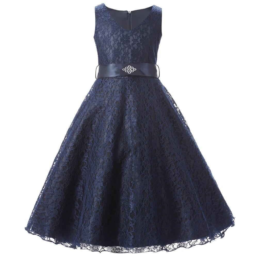 Aliexpress.com : Buy solid ribbon teenagers kids dress party wear ...