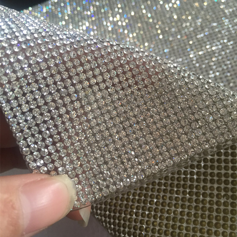 Big Promotion Ss8 Clear Crystal Rhinestone Beaded Trim