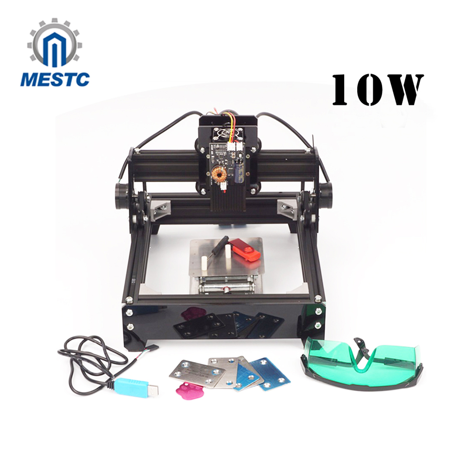 10W laser, stainless steel marking machine AS-5 laser engraving machine 10w laser engraver metal laser marking machine cnc router with 140 200mm engraving area for stainless steel aluminum marking