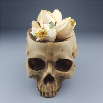 2018 Rushed New Arrival Mrzoot Skull Flower Vase Gothic Resin Head Container Storage Tank Macetas Human Garden Pots Ashtrays D