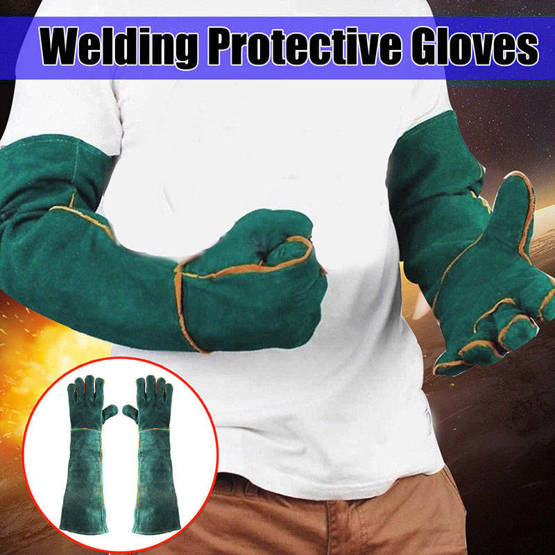 1Pair Electric Welding Gloves High Temperature Resistant Welders Long Gloves 60CM LSMK99
