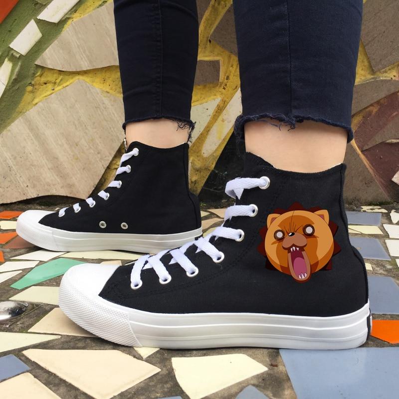 Wen Design Black White Anime Sneakers Bleach Kon Canvas High Shoes Women  Men Skateboarding Trainers Boy Girl s Birthday Footwear 8fb875846d70