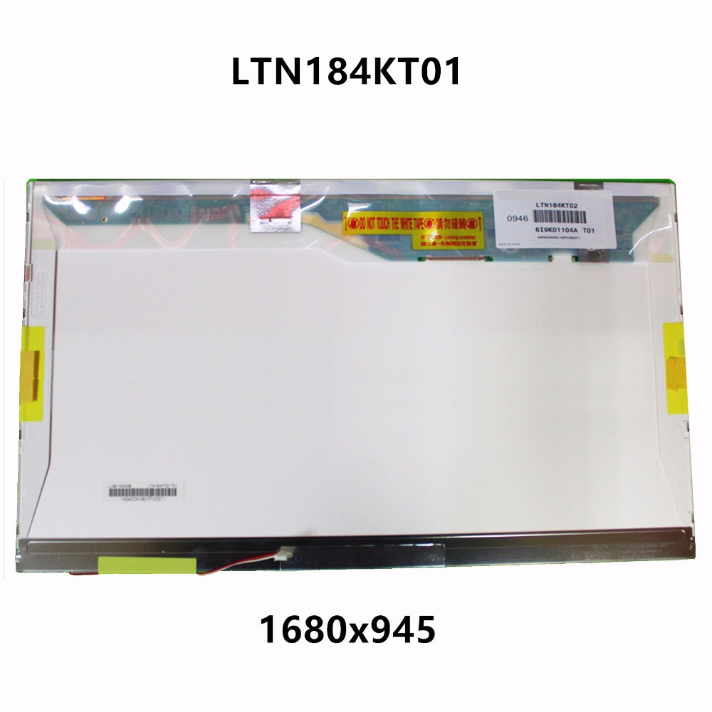 18.4'' LCD LED Screen Display Panel Matrix Replacement LTN184KT01 LTN184KT01-S01 LTN184KT02-T01 1680x945 For ACER ASPIR 8730G genuine 12 laptop matrix for macbook a1534 lcd led replacement screen display brand new 2015 2016 years
