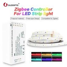 GLEDOPTO ZigBee Light Link Smart LED Strip Kit RGBCCT Strip Controller for LED Strip Light Work with Echo Plus Alexa Smartthings