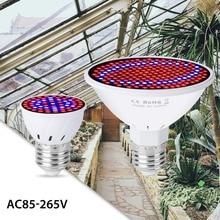 Phyto Lamp Full Spectrum LED Grow Lights E27 LED Fitolamp AC85-265V Indoor Grow LED Light Bulb 6W 15W 20W Lamp For Plants Flower lumiparty 45w 225 leds ac85 265v led plant grow spotlight light square shape lamp bulb for flower plants jk35