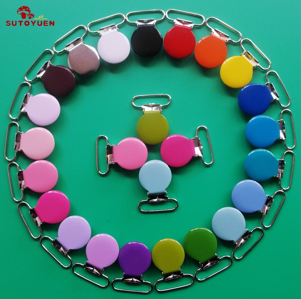50 stks emaille ronde metalen jarretelle clips met plastic tanden, - Voeden - Foto 2