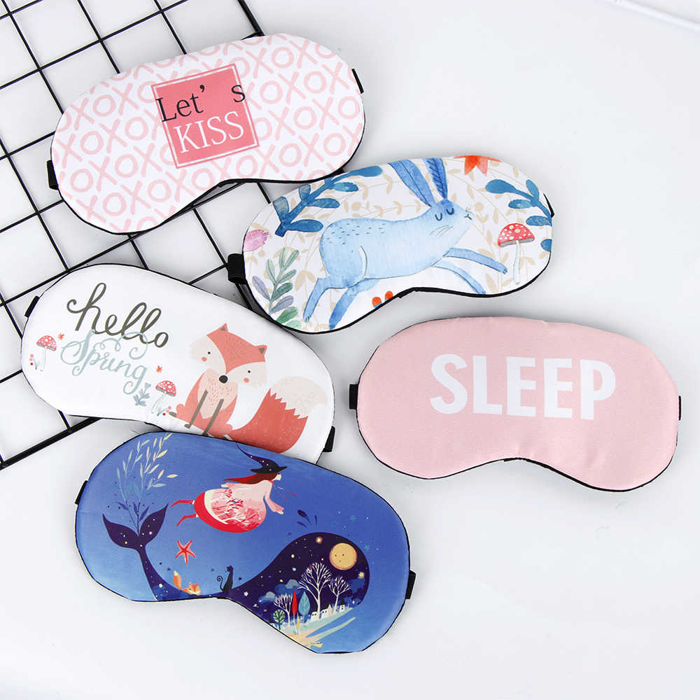 19 Styles Cute Sleeping Mask Shade Cover Blindfold Rest Sleep Eyepatch Sleeping Eyepatch Massage DIY Home Relax Gift