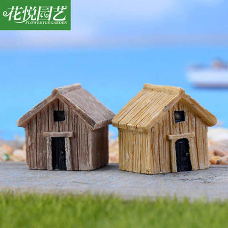 ZOCDOU, 1 pieza, casa de madera, habitación, casa clásica de madera, edificio, pueblo, columpio, figura de artesanía, ornamento, miniaturas, decoración DIY