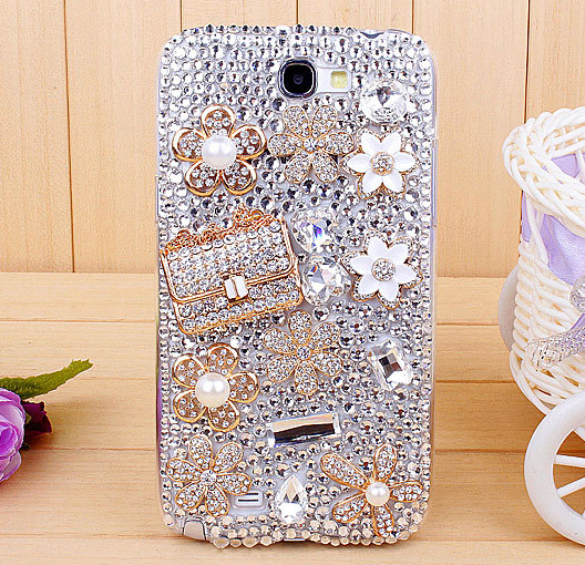 For Samsung Galaxy note 2/N7100 Rhinestone mobile phone case – Full drill Sachet