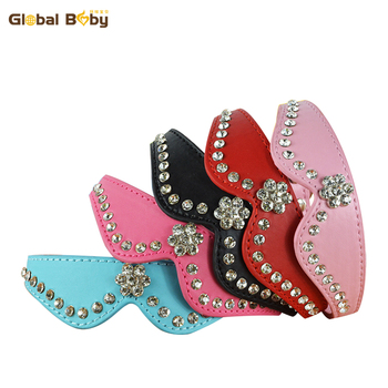 (50 Pieces/Lot)  Wholesale Bow Sytles Brand Pu Leather Rhinestone Pet Cat Dog Collar