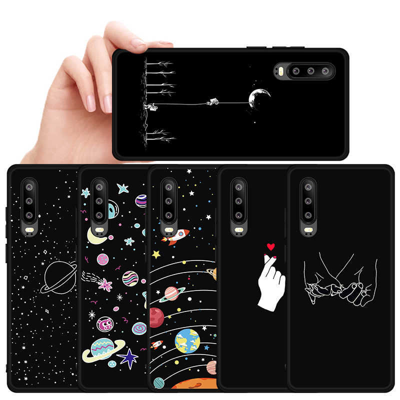 Silicone Cover Case For Huawei P30 Pro P20 P10 Lite P Smart Plus Starry Sky Pattern Cover For Huawei P30 P Smart 2019 30 Cases