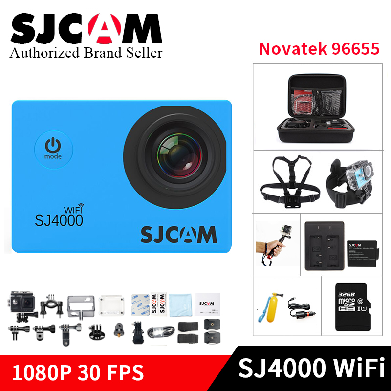 Original SJCAM SJ4000 Wifi Action Camera 1080P HD 2.0 LCD Diving 30M Waterproof yi mini helmet camcorder sports video Sports DV amk7000s camera 1080p hd action digital camera 2 0 lcd 4k wifi sport dv video photo camera 20mp waterproof 40m mini camcorder