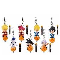 Dragon Ball Z QD Maskottchen Figure Strap Sammlung Komplett Set (7) Spielzeug 100% Original
