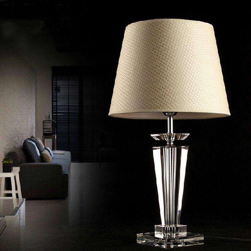 Confident Modern Novelty Fabric Crystal Desk Light Vintage E27 Led 220v Bright Bureau Lamp For Reading Bedside Home Living Room Office Bar In Many Styles Led Table Lamps