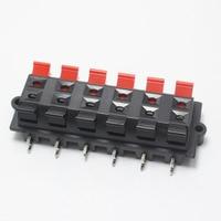 20pcs WP External Banana jack 12Pin Speaker Amplifier Wire Clip Audio Socket WP12 12Pole LED Spring Terminal Switch