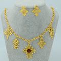Ethiopian Traditional Festivals Jewelry set Ethiopians Cross  Gold Plated,Eritrea Ethiopian Orthodox Tewahedo Church #007306