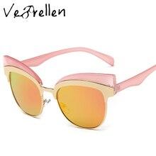 VeBrellen Fashion Female Cat Eye Polarized Eyeglasses Women Sunglasses Retro Sun Glasses UV400 VJ104