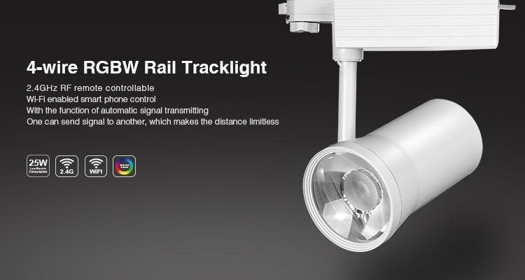 ФОТО Milight 25W 4-wire RGBW warm white Rail LED Tracklight Track Light Spotlight Clothing Shop Indoor Light AC86V-265V