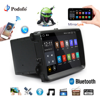 Podofo Car Radio Android GPS Navigation Bluetooth 1 Din 9 Touch Screen Car MP5 Multimedia Player USB FM For VW/Passat/Golf/MK5