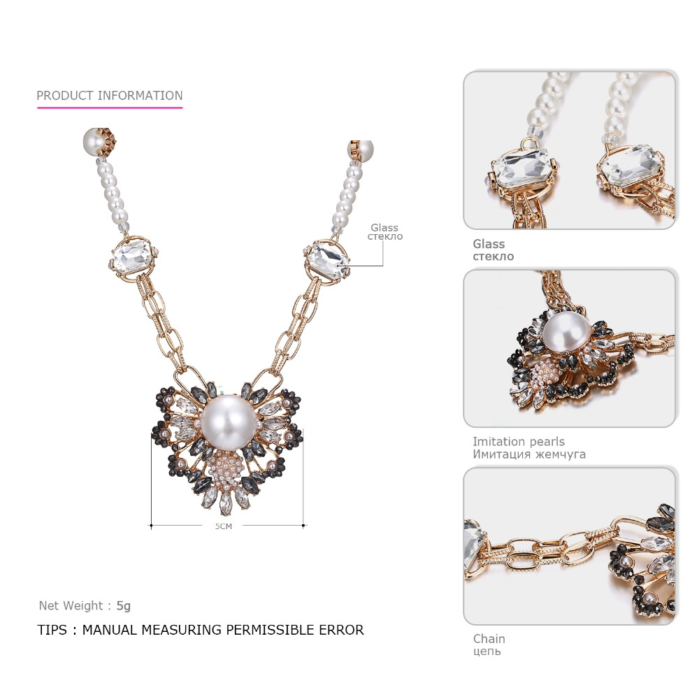Emanco Long Necklace Sale Summer European And American Fashion Full Drill Color Pendant For Women Necklaces Necklaces & Pendants