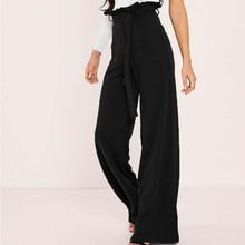 Elegant High Waist Long Loose Pants Multi Colors