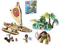 Lepin 25003 Moana Ocean Voyage Restore The Heart Of Te Fiti Set Building Blocks Maui Assembling