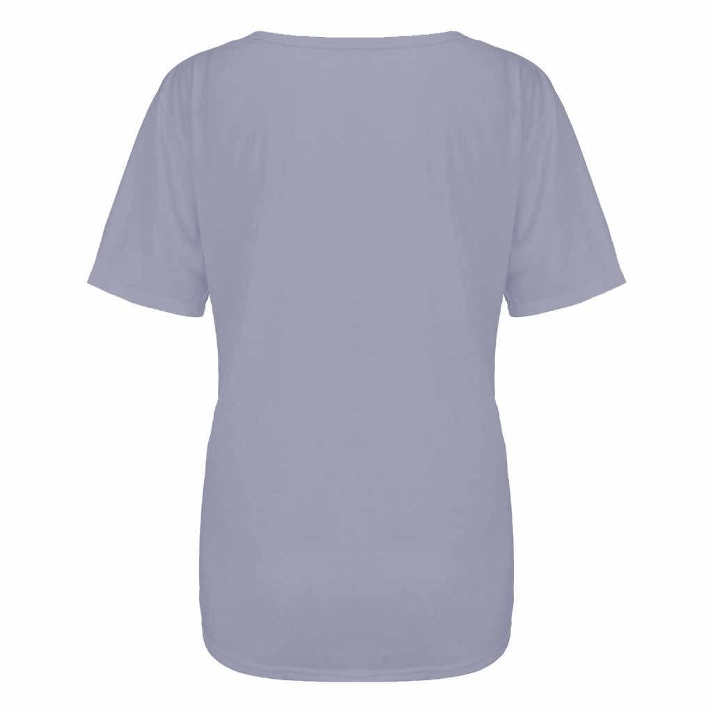 נשים של חולצה נשים חולצות וחולצות אופנה נשים O-צוואר מוצק קצר שרוול מזדמן מכתב טי חולצות blusas דה inverno feminina
