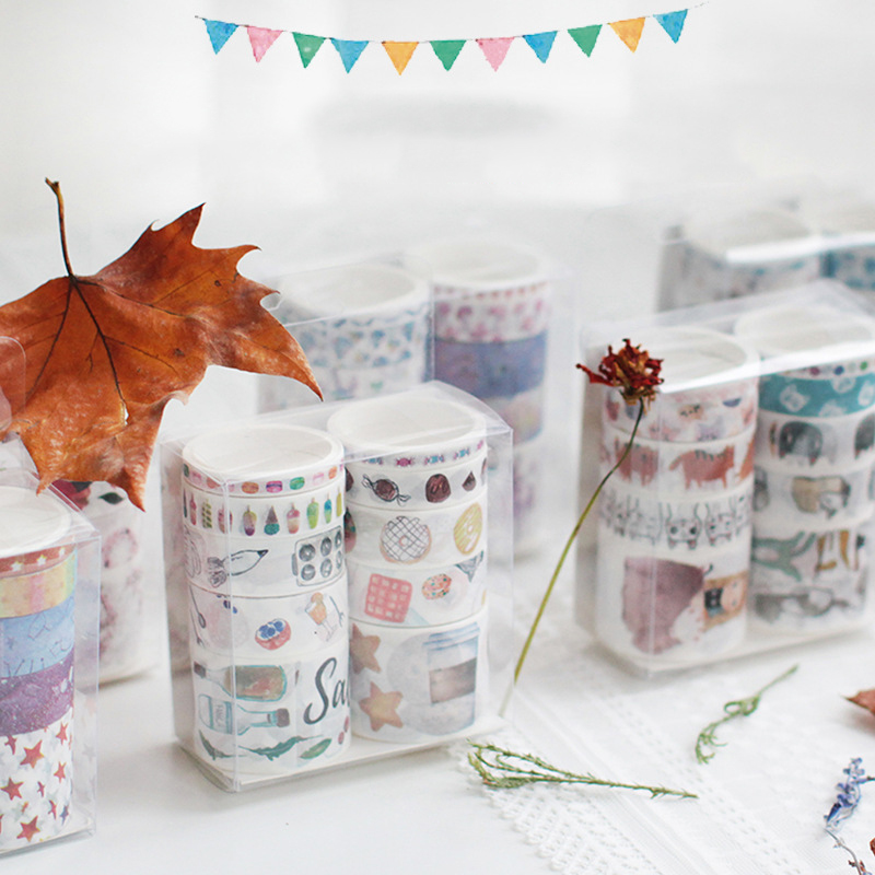10 Rolls/set Fantasy Series Washi Tape Decorative Srapbooking Stickers Masking Tape For DIY Album Planner Diary Bullet Journal