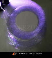 RGBW Colorful LED Optic Fiber Light Bundle 60pcs 3*0.75mm 2m Curtain Cable with IR remote controller FY-750*3-008