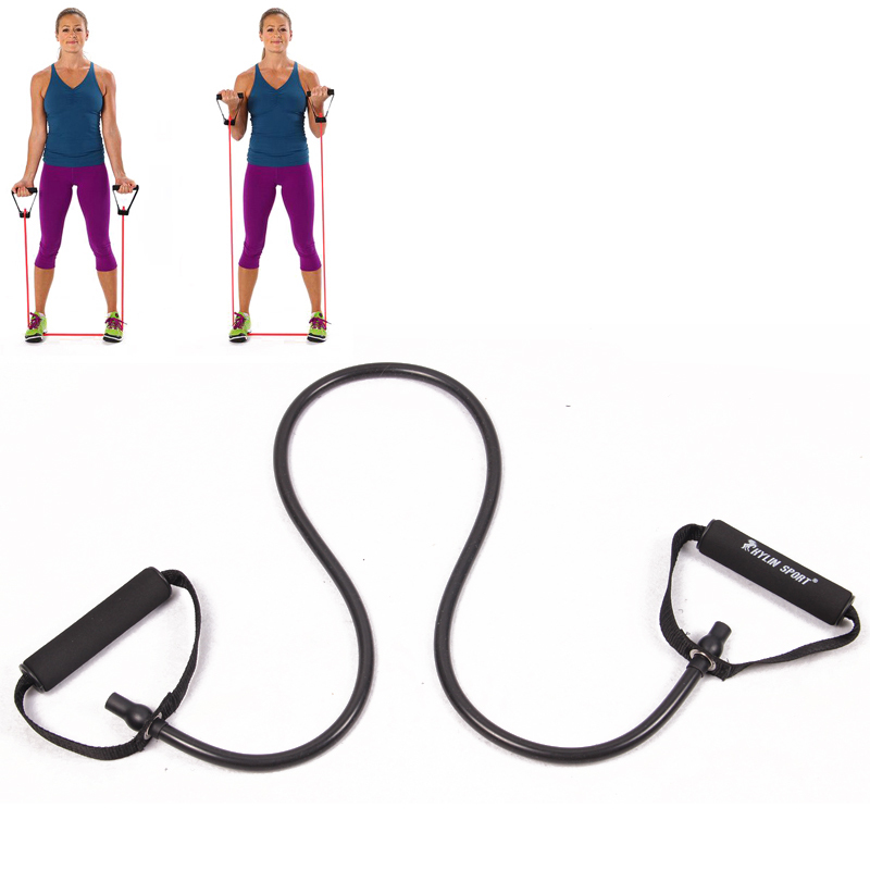 Fitness Yoga Bælter Træk Rope Exerciese Tubes Elastiske Træningsbælter til Yoga Pilates Workout Gratis Levering