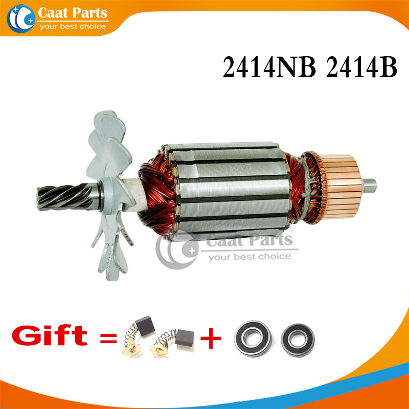 7 Teeth AC 220-240V Armature Rotor For MAKITA 516563-1 516564-9 2414B 2414NB Power Tool Accessories