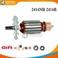 7 zähne AC 220-240 V Anker Rotor Für MAKITA 516563-1 516564-9 2414B 2414NB Power werkzeug Zubehör