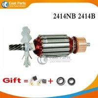 7 zębów AC 220 240V wirnik dla MAKITA 516563 1 516564 9 2414B 2414NB akcesoria do elektronarzędzi w Akcesoria do elektronarzędzi od Narzędzia na