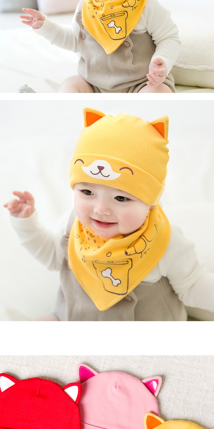 2pcslot Baby infant Winter Hat & Scarf Baby Winter Cap Children Warm Scarf For Boys Suit dog Hats Scarfs For Girl Boy Newborn (6)