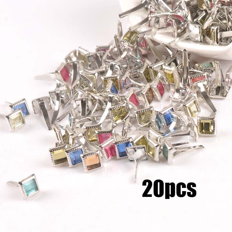 Смешанный узор Круглые Diy штифтики для скрапбукинга, украшение на застежке Брэд металлические изделия для украшения 28 Дизайн выбор cp2241 - Цвет: 7x7x15mm 20pcs