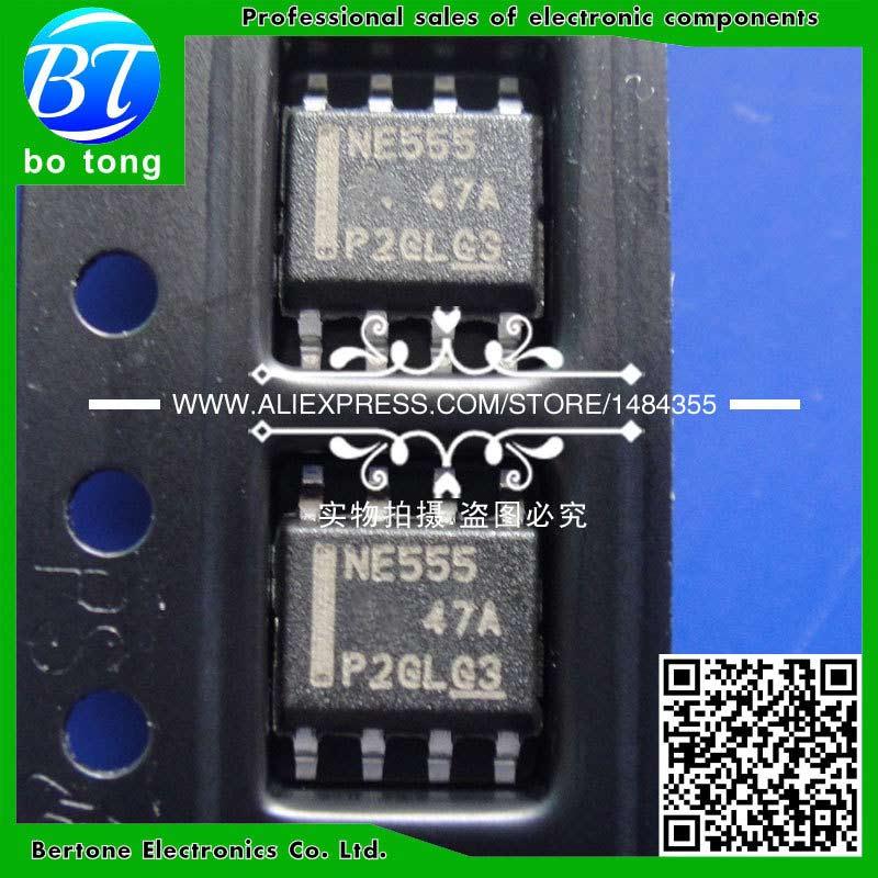 100 PCS NE555DR SOP-8 NE555D NE555 555 Timer