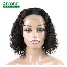 Deep Wave Lace Front Human Hair Short Bob Wigs 13x4 Indian Remy Lace Frontal Wigs For Black Women Perruque Cheveux Humain