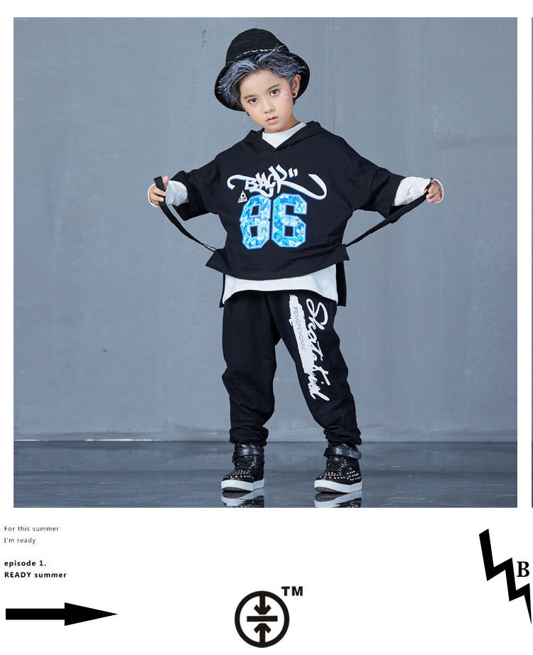 boys hip hop clothing set 1073-10