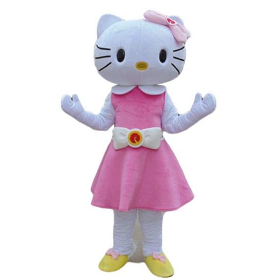 Costume de mascotte de Hello Kitty robe rose pour la fête d'halloween
